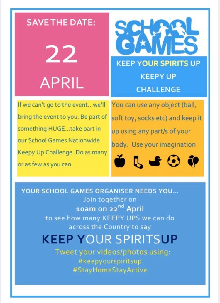 Keep Your Spirits Up – Wirral School Games